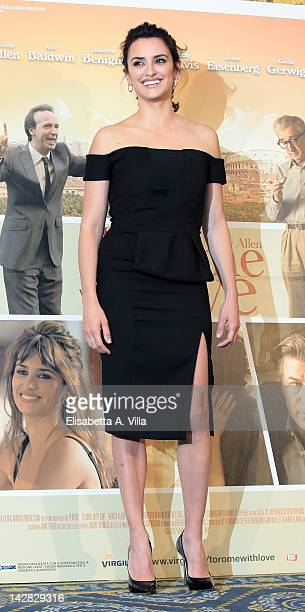 Actress Penelope Cruz attends 'To Rome With Love' photocall at Hotel Parco dei Principi on April 13 2012 in Rome Italy