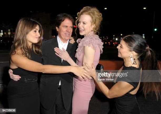 Actress Penelope Cruz director Rob Marshall actresses Nicole Kidman and Stacy 'Fergie' Ferguson arrive at the Los Angeles premiere of the Weinstein...