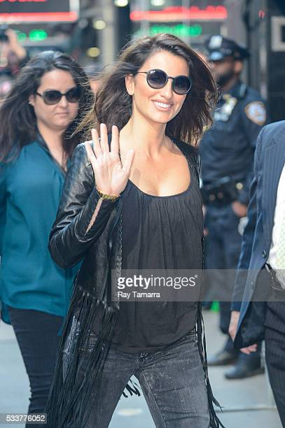 Actress Penelope Cruz enters the 'Good Morning America' taping at the ABC Times Square Studios on May 23 2017 in New York City