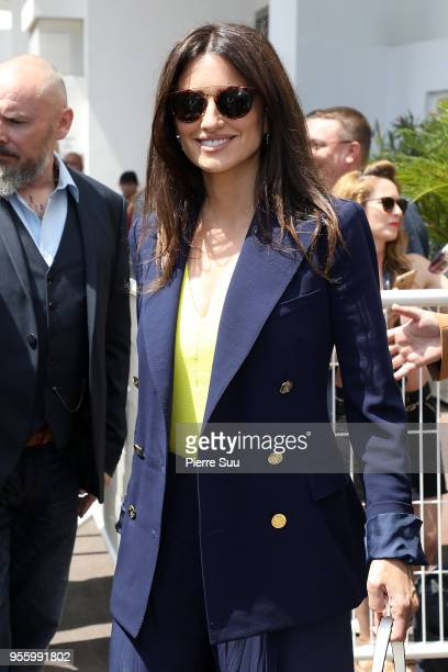 Actress Penelope Cruz is seen at the Palais des Festivals during the 71st annual Cannes Film Festival on May 8 2018 in Cannes France
