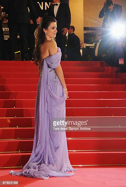 Actress Penelope Cruz leaves the 'Broken Embraces' Premiere at the Grand Theatre Lumiere during the 62nd Annual Cannes Film Festival on May 19, 2009...