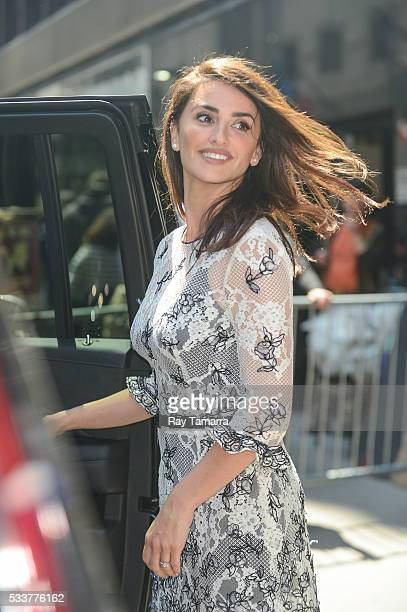 Actress Penelope Cruz leaves the 'Good Morning America' taping at the ABC Times Square Studios on May 23 2017 in New York City