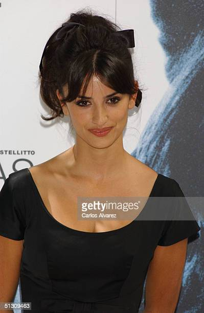 Actress Penelope Cruz poses at a photocall to promote her new movie No Te Muevas at the Hotel Santo Mauro on September 15 2004 in Madrid Spain