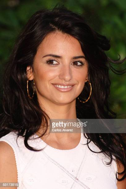Actress Penelope Cruz poses at the Spanish photocall for Volver at the Casa de America on June 30 2005 in Madrid Spain