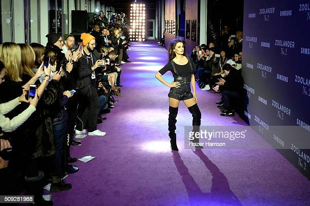 Actress Penelope Cruz walks the runway during the Zoolander No 2 World Premiere at Alice Tully Hall on February 9 2016 in New York City