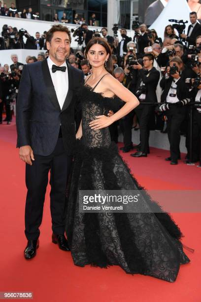 """Actress Penelope Cruz, wearing jewels by Atelier Swarovski Fine Jewelry and actor Javier Bardem attend the screening of """"Everybody Knows """" and the..."""