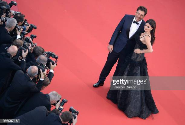 Actress Penelope Cruz wearing jewels by Atelier Swarovski Fine Jewelry and actor Javier Bardem attends the screening of 'Everybody Knows ' and the...