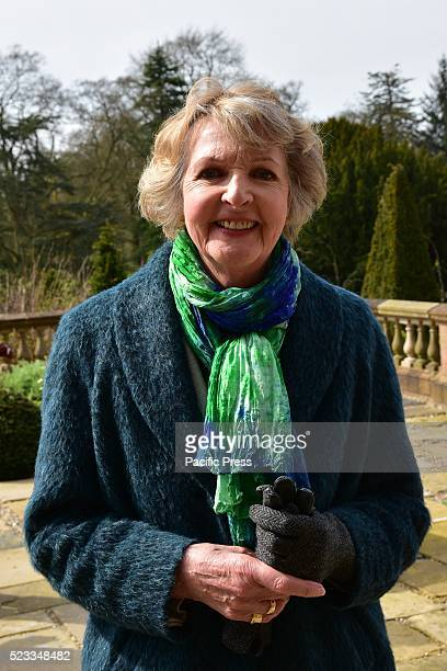 Actress Penelope Keith in Attendance during a 21 Gun Salute that took place in the Grounds of Queen Elizabeths Northern Ireland Residence...