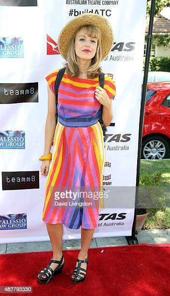Actress Penelope Mitchell attends a fundraiser for the Australian Theatre Company hosted by the Australian ConsulGeneral on August 2 2015 in Los...