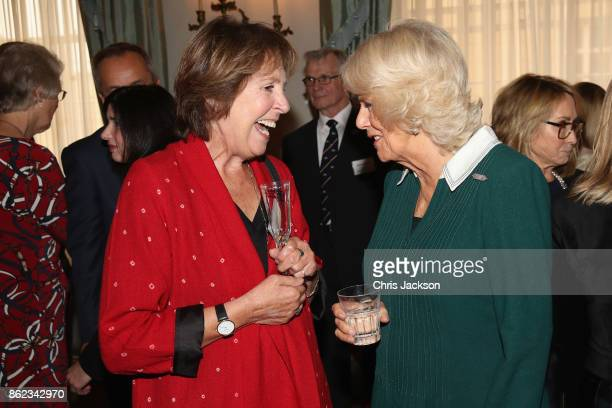 Actress Penelope Wilton and Camilla Duchess of Cornwalll attend a reception to celebrate the launch of the 'Our Amazing People' campaign at Clarence...
