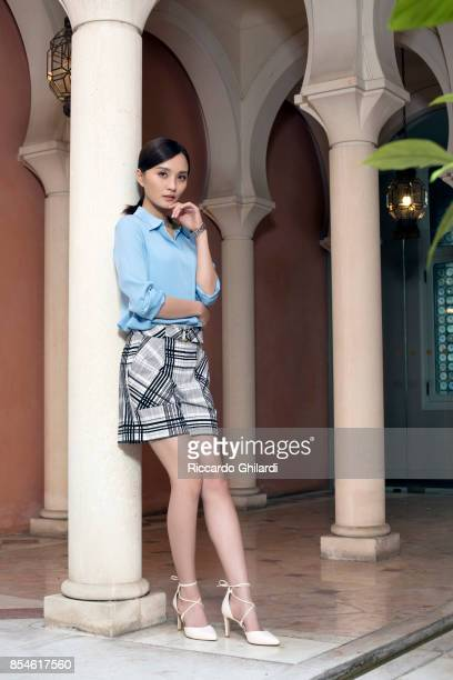 Actress Peng Jing is photographed for Self Assignment on September 6 2017 in Venice Italy