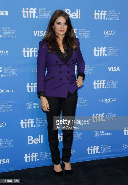 Actress Penélope Cruz attends the Twice Born Photo Call during the 2012 Toronto International Film Festival at TIFF Bell Lightbox on September 13...