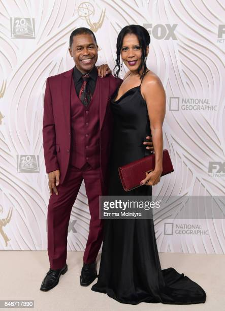 Actress Penny Johnson and music artist Gralin Jerald attend FOX Broadcasting Company, Twentieth Century Fox Television, FX And National Geographic...