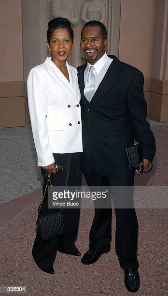 Actress Penny Johnson Jerald and husband Gralin attend the Writers Peer Group reception for Emmy Award nominees for Outstanding Writing at the...