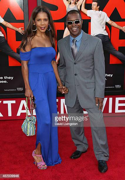 Actress Penny Johnson Jerald and husband Gralin Jerald attend the premiere of Columbia Pictures' Sex Tape at the Regency Village Theatre on July 10...