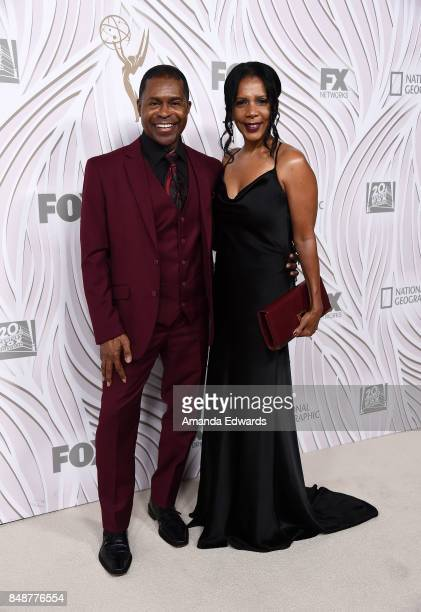 Actress Penny Johnson Jerald and musician Gralin Jerald arrive at the FOX Broadcasting Company, Twentieth Century Fox Television, FX and National...