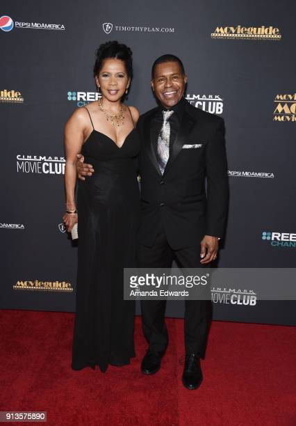 Actress Penny Johnson Jerald and musician Gralin Jerald arrive at the 26th Annual Movieguide Awards Faith And Family Gala at the Universal Hilton...