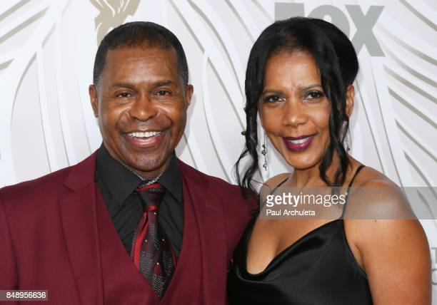 Actress Penny Johnson Jerald and Musician Gralin Jerald attend the FOX Broadcasting Company, Twentieth Century Fox Television, FX and National...