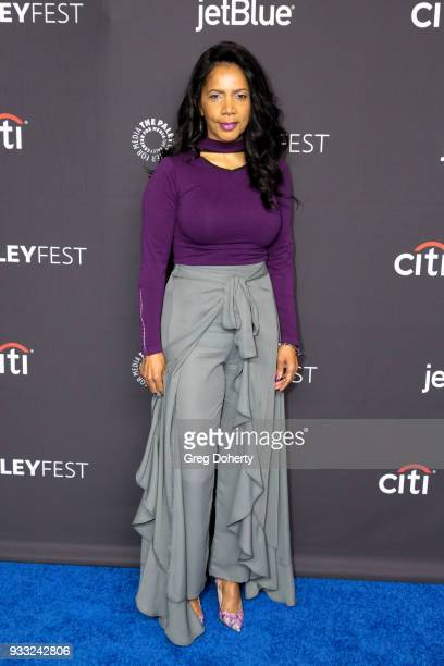 """Actress Penny Johnson Jerald attends the 2018 PaleyFest Los Angeles for Fox's """"The Orville"""" at Dolby Theatre on March 17, 2018 in Hollywood,..."""