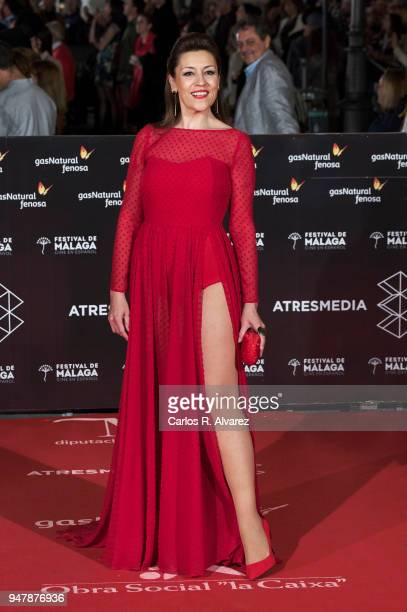 Actress Pepa Aniorte attends 'Las Distancias' premiere during the 21th Malaga Film Festival at the Cervantes Theater on April 17 2018 in Malaga Spain