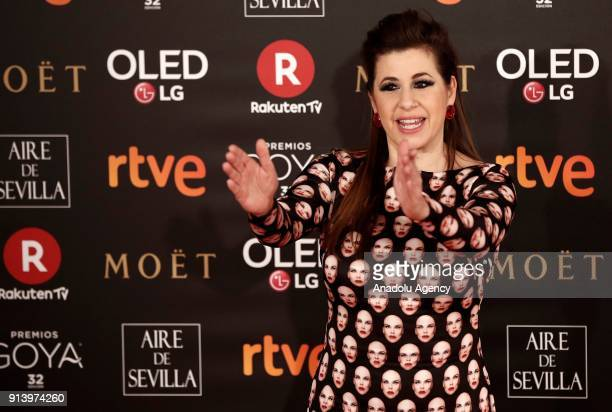 Actress Pepa Charro attends the 32th edition of the Goya Awards ceremony in Madrid Spain on February 04 2018