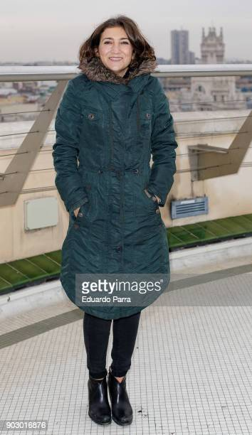 Actress Pepa Zaragoza attends the 'Hablar por hablar' theatre play press conference at Circulo de Bellas Artes on January 9 2018 in Madrid Spain