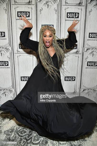 Actress Peppermint from the cast of Head Over Heels visits Build Studio on August 10 2018 in New York City
