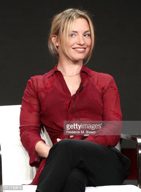 Actress Perdita Weeks of the television show Magnium PI speaks during the CBS segment of the Summer 2018 Television Critics Association Press Tour at...