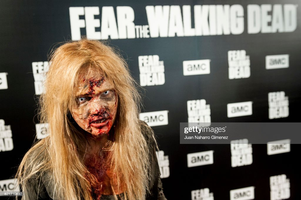 Actress performs during 'Fear The Walking Dead' photocall at Callao Cinema on July 24, 2017 in Madrid, Spain.
