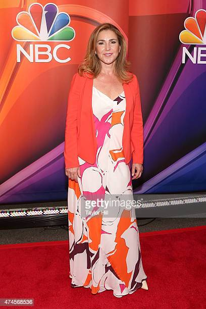 Actress Peri Gilpin attends the 2015 NBC Upfront Presentation red carpet event at Radio City Music Hall on May 11 2015 in New York City