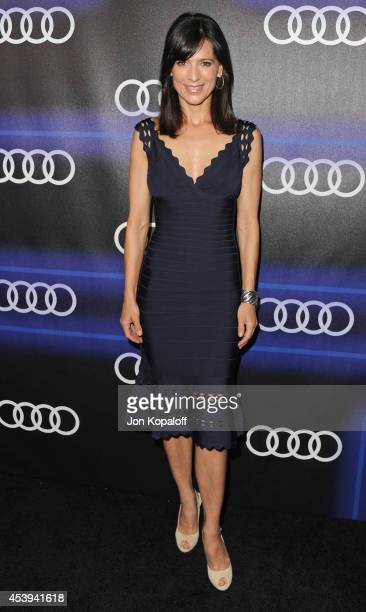 Actress Perrey Reeves arrives at Audi Emmy Week Celebration at Cecconi's Restaurant on August 21 2014 in Los Angeles California