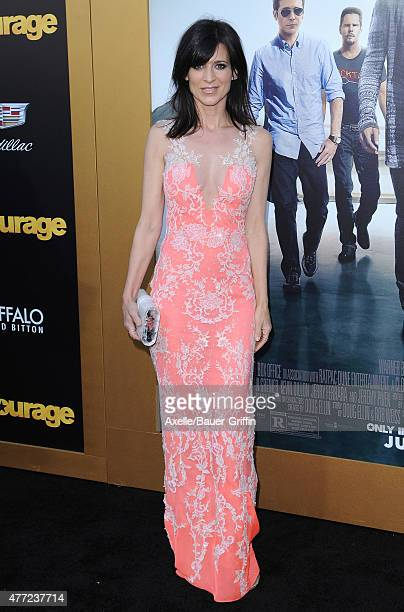 Actress Perrey Reeves arrives at the Los Angeles premiere of 'Entourage' at Regency Village Theatre on June 1 2015 in Westwood California