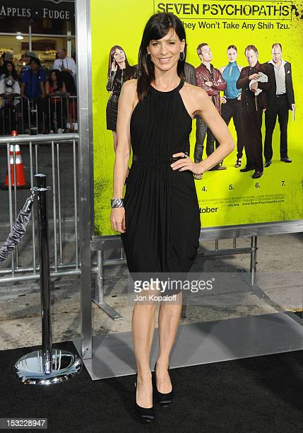 Actress Perrey Reeves arrives at the Los Angeles Premiere 'Seven Psychopaths' at Mann Bruin Theatre on October 1 2012 in Westwood California