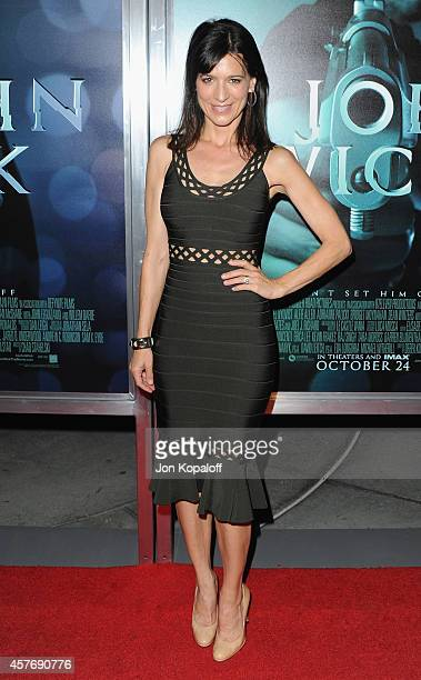 Actress Perrey Reeves arrives at the Los Angeles special screening John Wick at ArcLight Hollywood on October 22 2014 in Hollywood California