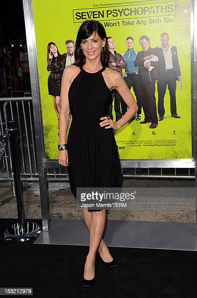 """Actress Perrey Reeves arrives at the premiere of CBS Films' """"Seven Psychopaths"""" at Mann Bruin Theatre on October 1, 2012 in Westwood, California."""