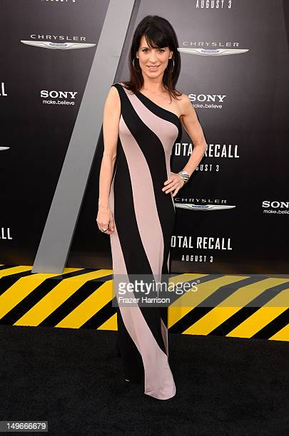 Actress Perrey Reeves arrives at the premiere of Columbia Pictures' 'Total Recall' held at Grauman's Chinese Theatre on August 1 2012 in Hollywood...
