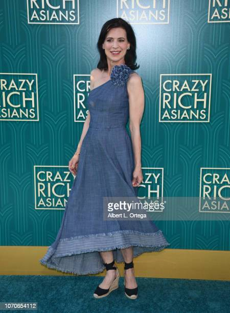 Actress Perrey Reeves arrives for Warner Bros Pictures' Crazy Rich Asians Premiere held at TCL Chinese Theatre IMAX on August 7 2018 in Hollywood...