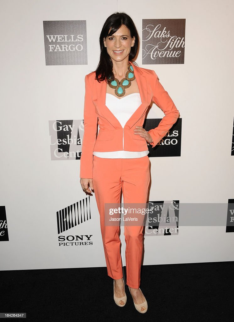 Actress Perrey Reeves attends 'An Evening' benefiting The L.A. Gay & Lesbian Center at the Beverly Wilshire Four Seasons Hotel on March 21, 2013 in Beverly Hills, California.