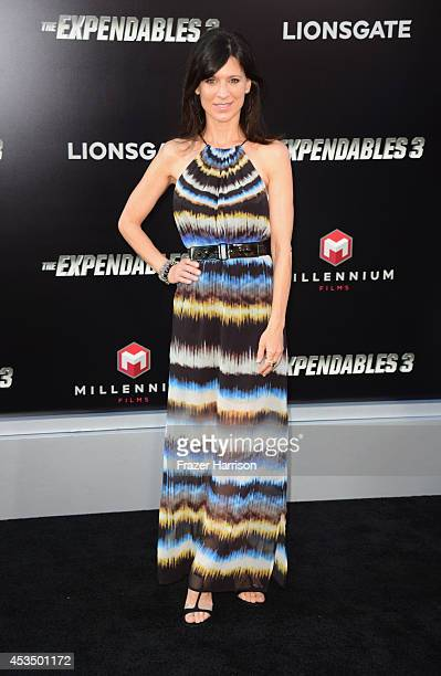 Actress Perrey Reeves attends Lionsgate Films' The Expendables 3 premiere at TCL Chinese Theatre on August 11 2014 in Hollywood California