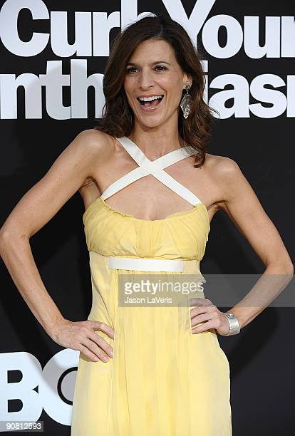 Actress Perrey Reeves attends the 7th season premiere of HBO's Curb Your Enthusiasm at Paramount Theater on the Paramount Studios lot on September 15...