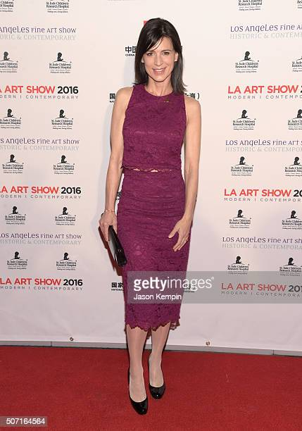 Actress Perrey Reeves attends the LA Art Show and Los Angeles Fine Art Show's 2016 opening night premiere party benefiting St Jude Children's...
