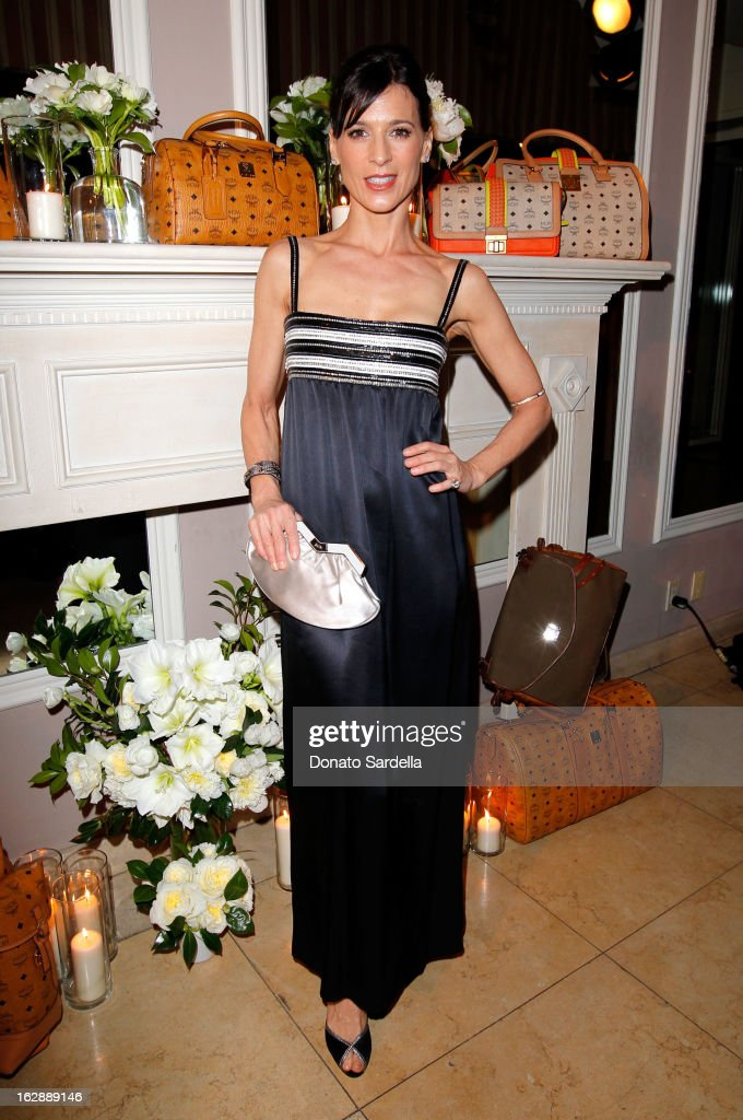 Actress Perrey Reeves attends the Dukes Of Melrose launch hosted by Decades, Harper's BAZAAR, and MCM on February 28, 2013 in Los Angeles, California.