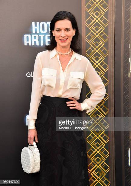 Actress Perrey Reeves attends the premiere of Global Road Entertainment's Hotel Artemis at Regency Village Theatre on May 19 2018 in Westwood...