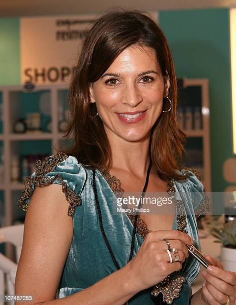 Actress Perrey Reeves with CVS at the Access Hollywood Stuff You Must Lounge Presented by On 3 Productions at Sofitel Hotel on January 12 2008 in...