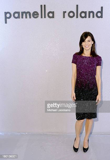 Actress Perry Reeves attends the Pamella Roland fashion show during MercedesBenz Fashion Week Spring 2014 at The Studio at Lincoln Center on...