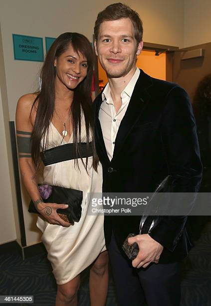 Actress Persia White and actor Joseph Morgan attend The 40th Annual People's Choice Awards at Nokia Theatre L.A. Live on January 8, 2014 in Los...