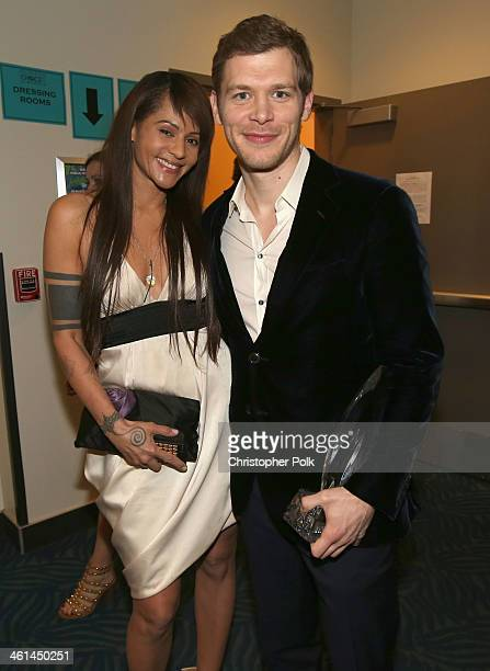 Actress Persia White and actor Joseph Morgan attend The 40th Annual People's Choice Awards at Nokia Theatre LA Live on January 8 2014 in Los Angeles...