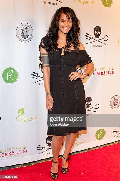 Actress Persia White arrives to the Sea Shepherd Conservation Society event at James Costa's Hollywood home on October 17 2009 in Los Angeles...