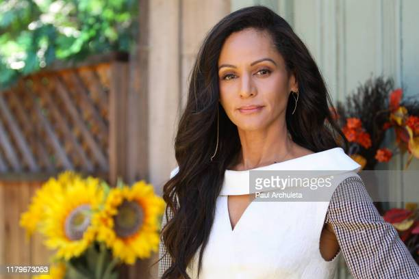 Actress Persia White visits Hallmark Channel's Home Family at Universal Studios Hollywood on October 07 2019 in Universal City California