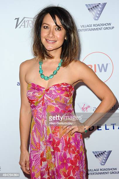 Actress Peta Sergeant attends the 4th Annual Australians in Film Awards Benefit Dinner and Gala at InterContinental Hotel on October 25 2015 in...